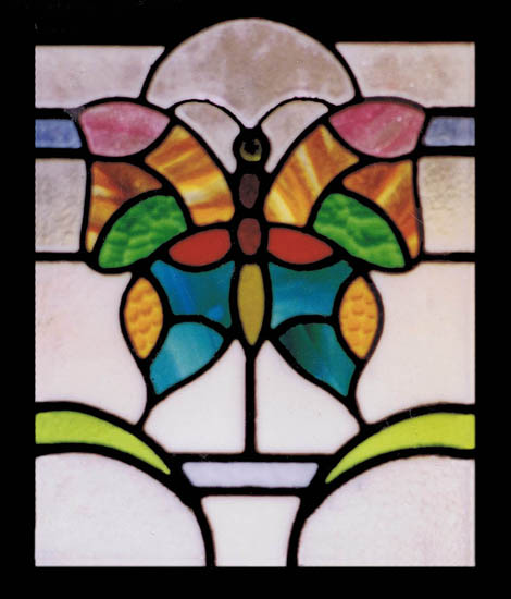 Art nouveau scottish stained glass custom studio for Butterfly stained glass craft