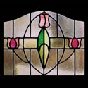 Antique Stained Glass Tulip