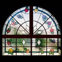 Arched Floral Stained Glass