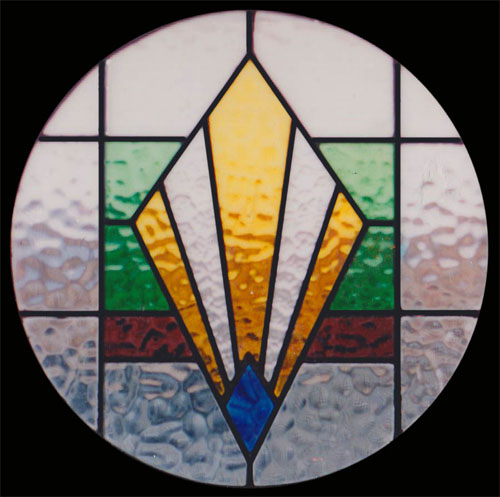 Art Deco Stained Glass Panel Pictures to pin on Pinterest