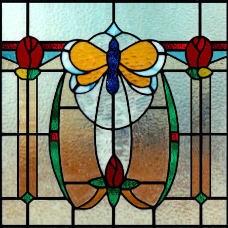Art Nouveau Stained Glass Scottish Stained Glass