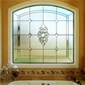 Castle Rock Bathroom Stained Glass