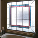 Bathroom Stained Glass Colored Window - BSG 13