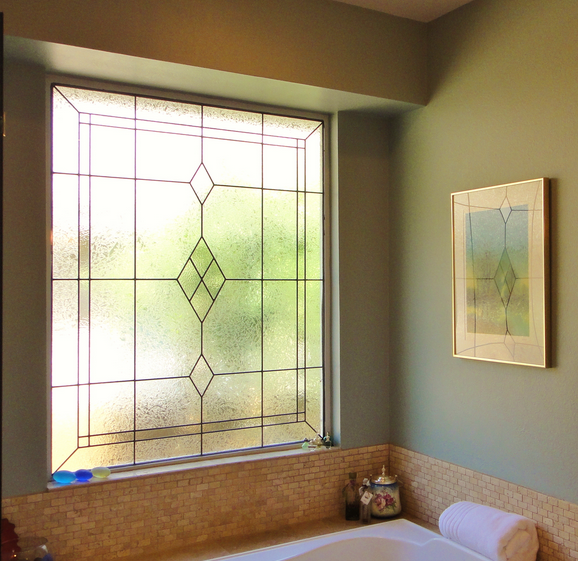 Beautiful stained glass for your bathroom for Bathroom window designs