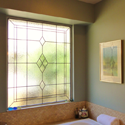 San Antonio Bathroom Stained Leaded Glass Windows