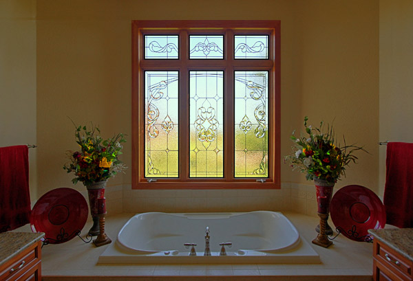 Dallas Bathroom Stained Glass Window Designs