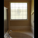 San Antonio Bathroom Stained Glass Window