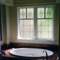 Houston Bathroom Stained Glass Windows - SGH 18
