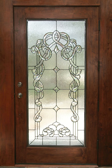 Leaded Glass Doors : Beveled stained glass scottish