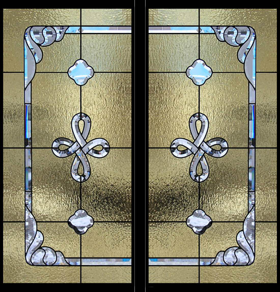 St. George Celtic Stained Glass Window Pair
