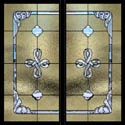 Celtic Stained Glass Window Pair