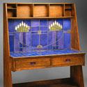 Charles Rennie Mackintosh Stained Glass Desk