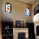 Church Stained Glass Transoms in Home