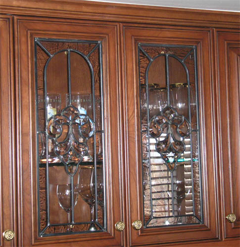 How To Put Glass In Kitchen Cabinet Doors: Scottish Stained Glass