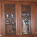 Clear Stained Glass Cabinet Doors