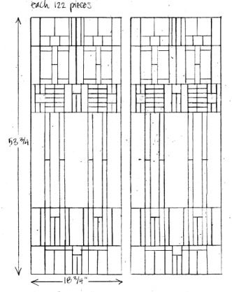 Frank Lloyd Wright Custom Stained Glass DesignsFrank Lloyd Wright Stained Glass Circles