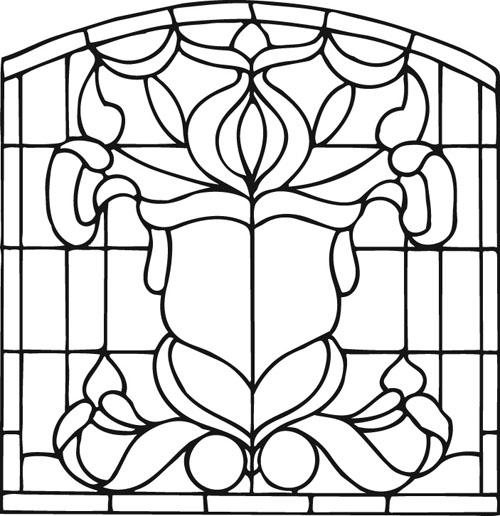 طرح ترمه برای نقاشی Free coloring pages of sun stained glass