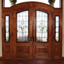Traditional Leaded Entryway Door Stained Glass