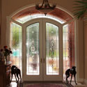 Beveled and Leaded Entryway Stained Glass