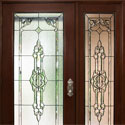 Sheridan Celtic Entryway Stained Glass Door & Sidelight