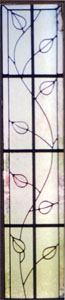Floral Stained Glass Sidelight