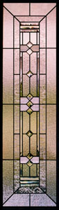 Frank Lloyd Wright Stained Glass Sidelights - SGSL 7