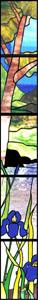Greene & Greene Stained Glass Sidelights