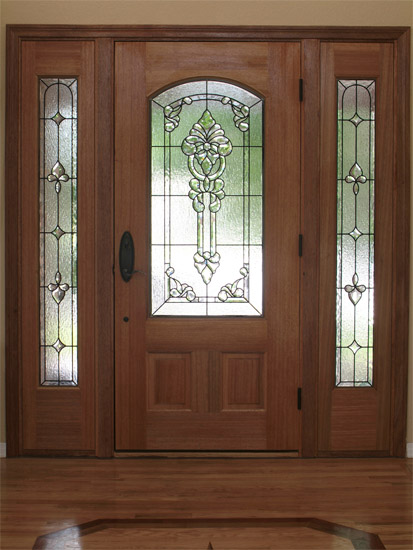 Custom stained glass for your doors for Entry doors with glass