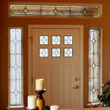 San Antonio Contemporary Entryway Stained Glass Door Sidelights