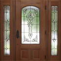 Houston Entryway Stained Glass Doors & Sidelights - SGH 8