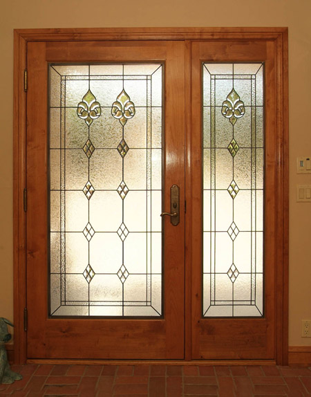 Custom stained glass for your doors for Front door glass panels