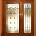 Castle Rock Entryway Stained Glass Door - CRSG 10