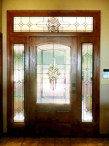 Leaded Glass Doors : Entryways scottish stained glass custom