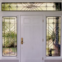 Entryway Stained Glass Front Entry Dallas