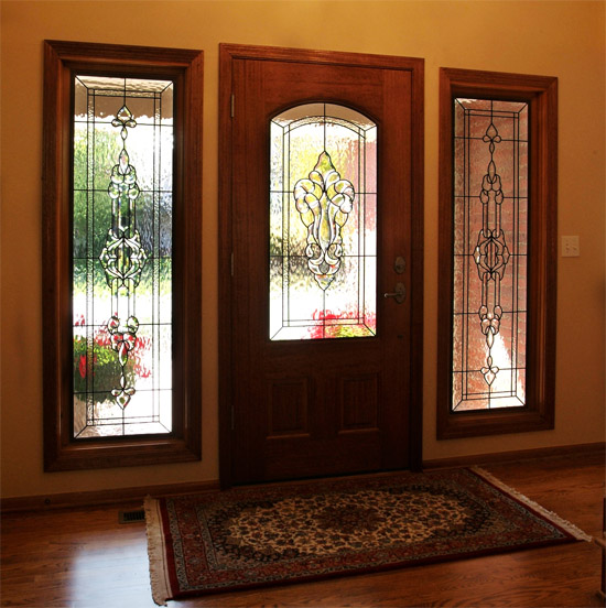 Entryways scottish stained glass custom for Custom transom windows