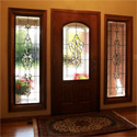 San Antonio Entryway Stained Glass Beveled Sidelights