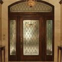 Entryway Stained Glass Transom Sidelights Door - Dallas, Texas