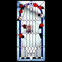 Orem Floral Stained Glass Panel