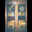 Mission Style Cabinet Stained Glass