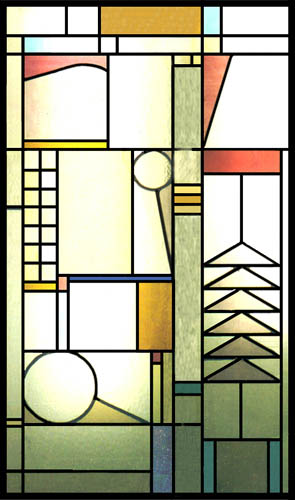 Mission Style Stained Glass Scottish Stained Glass