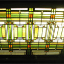 Frank Lloyd Wright Stained Glass Ceiling Panels
