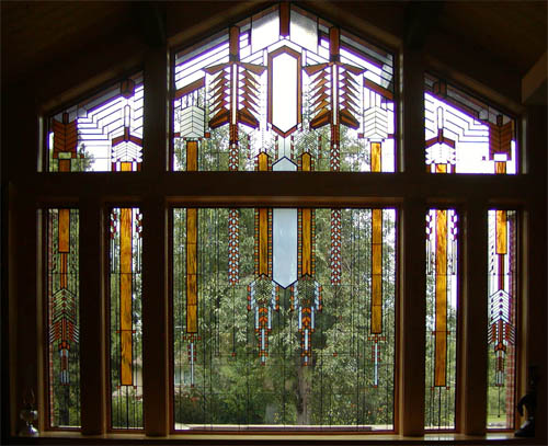Prairie Style Stained Gl Picture Window