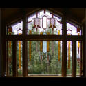 Prairie Style Stained Glass Picture Window