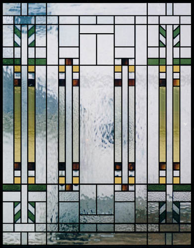 Mission style stained glass scottish stained glass for Glass panel design