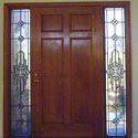 Prairie Style Stained Glass Doors