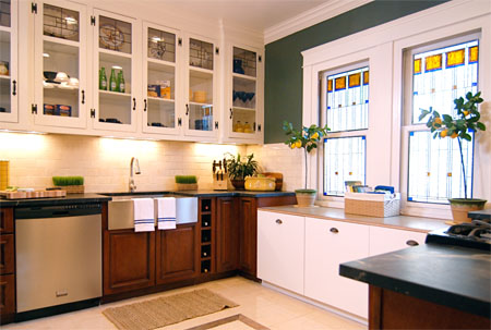 Stained glass kitchen scottish stained glass for Beveled glass kitchen cabinets