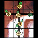 Mackintosh Stained Glass Cross