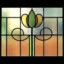 Mackintosh Antique Stained Glass Flowers