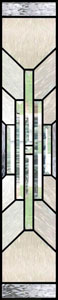Mission Style Stained Glass Sidelights - SGSL 4