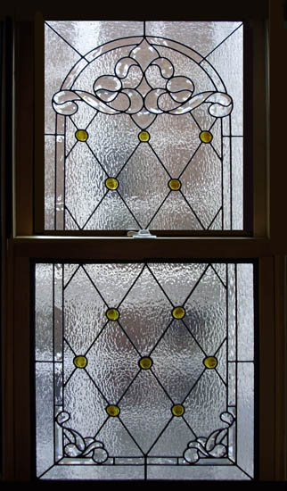 Church stained glass scottish stained glass for Simple window designs for homes